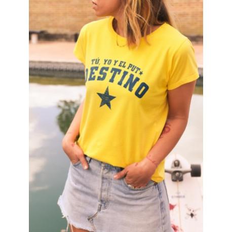 Camiseta chica Puto destino T.M