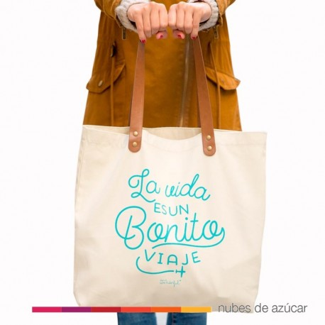 Bolso La vida es un bonito viaje Mr Wonderful