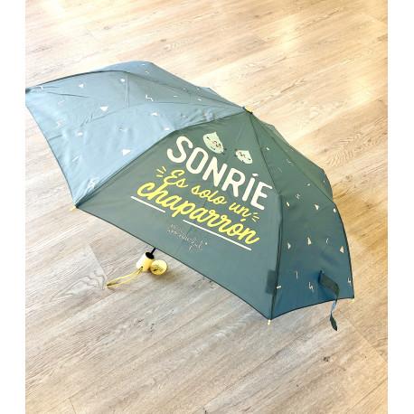 Paraguas mediano Sonrie es solo un chaparron