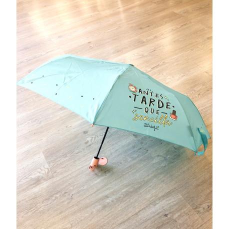 Paraguas mediano Antes tarde que sencilla
