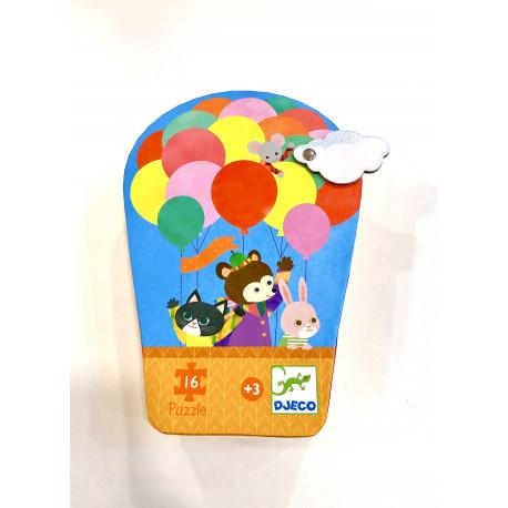 Puzzle La montgolfière 16 piezas (+3 años)