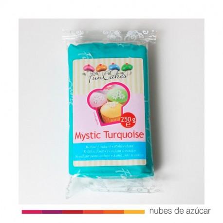 Funcakes Fondant Turquesa Mística 250 gr