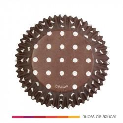 Cápsulas cupcakes Dots Negro 415-0152 75 uds
