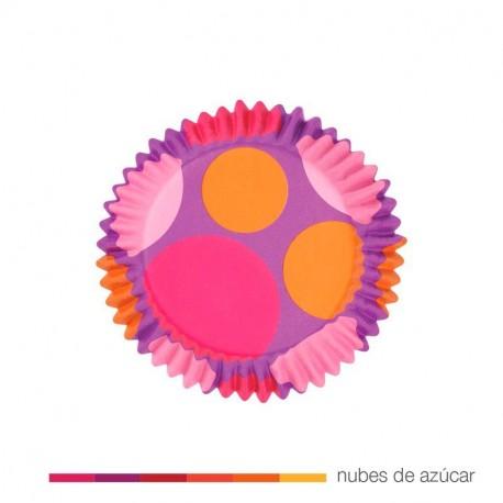 Cápsulas Cupcakes Dots Morado 36 uds