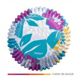 Cápsulas para cupcakes Flores Color 36 uds