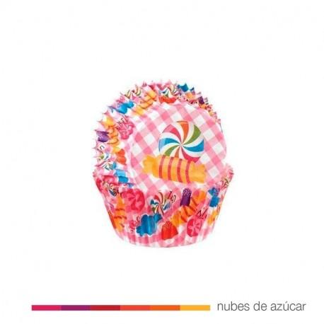 Cápsulas Cupcakes Candy Print 75 uds Wilton