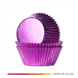 Cápsulas Cupcakes Fucshia Metalizado 24 uds