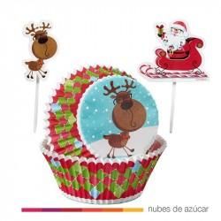 Combo cupcakes, cápsulas y palillos Wilton 24 uds