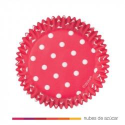 Cápsula para cupcakes roja con lunares 415-0148