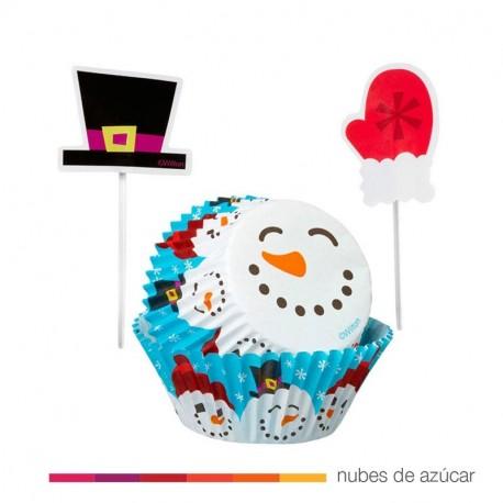 Combo para cupcakes invierno 24 un (415-1818)