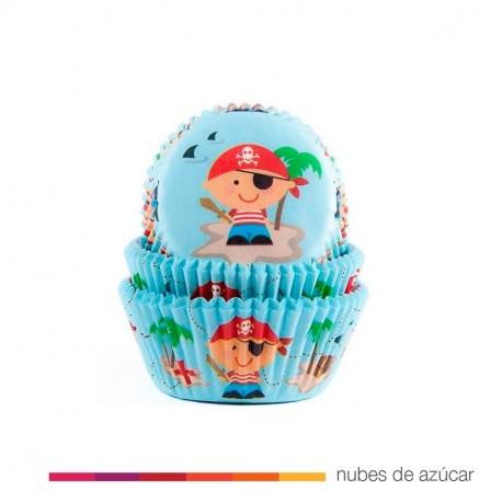 Cápsula para cupcakes pirata infantil