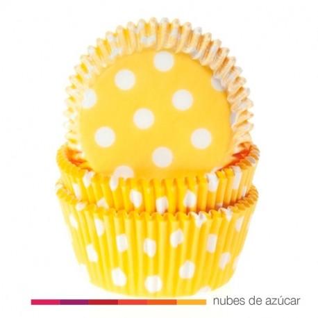Cápsula para cupcakes polkadot yellow