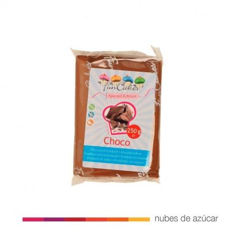 Funcakes fondant marrón sabor chocolate 250 gr
