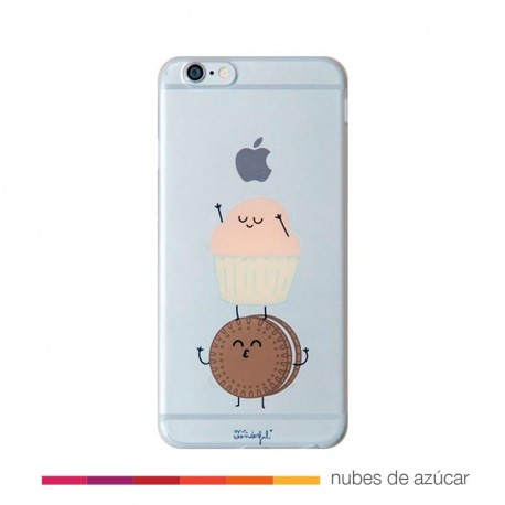 carcasa transparente para iphone 6/6S plus