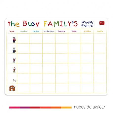 Pizarra magnética Busy family