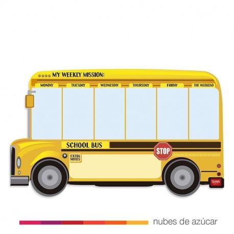 Pizarra magnética school bus