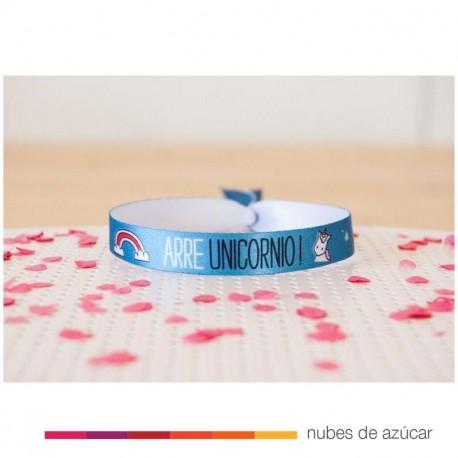 Pulsera Arre unicornio azul