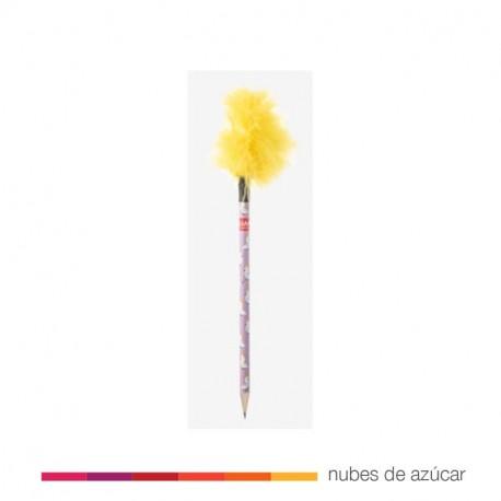 Lápiz decorado con pluma cacatua