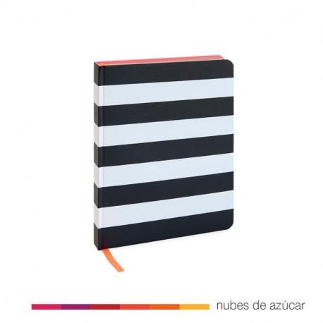 Block de notas A5 rayas negras