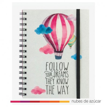 Notebook follow your dreams 21x16