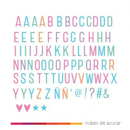 letras light box color
