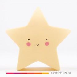 Lámpara quitamiedos estrella amarilla