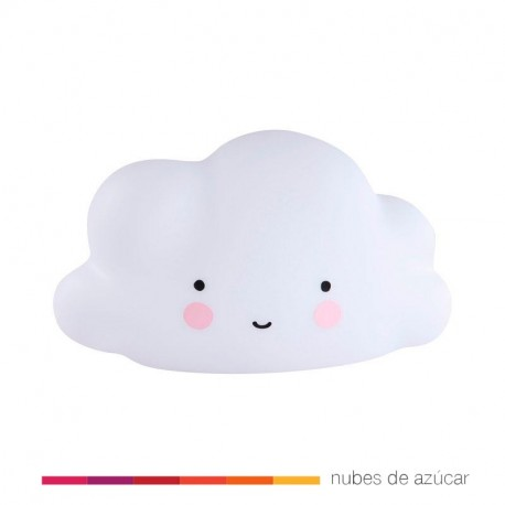 Lámpara quitamiedos nube blanca
