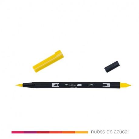 Rotulador doble punta Tombow amarillo 025