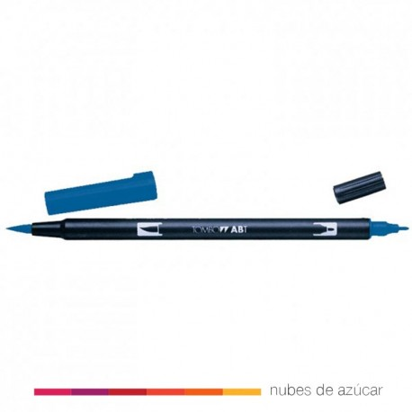 Rotulador doble punta Tombow azul 528
