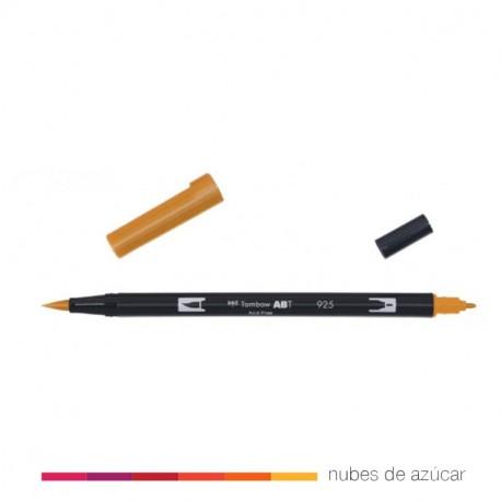 Rotulador doble punta Tombow naranja 925