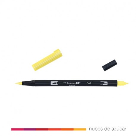 Rotulador doble punta amarillo 062 Tombow