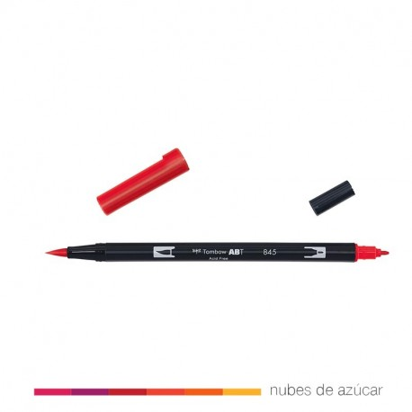 Rotulador doble punta Tombow rojo 845