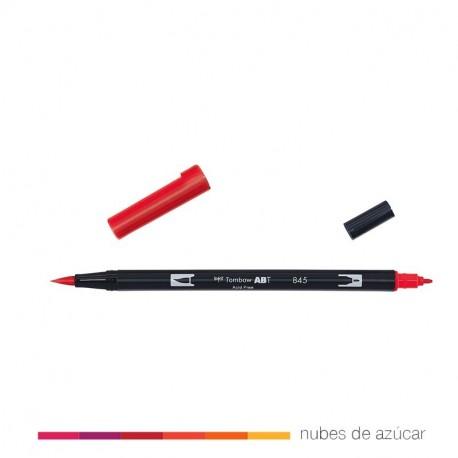 Rotulador doble punta Tombow rojo 845