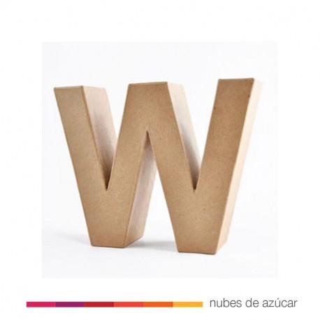 Letra W cartón craft 17.5x5.5