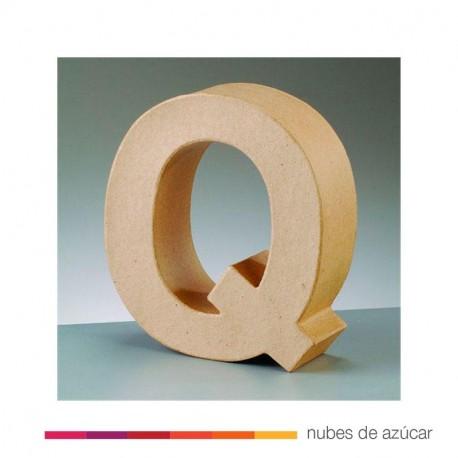 Letra Q cartón craft 17.5x5.5