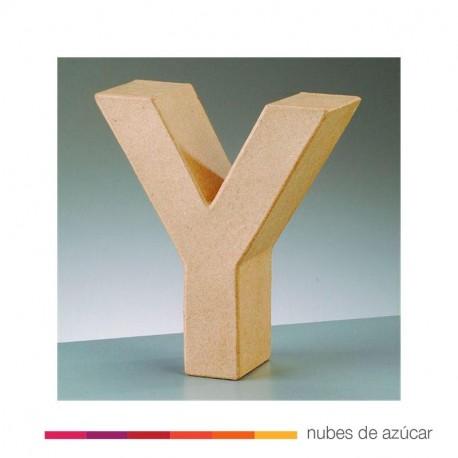 Letra Y cartón craft 17.5x5.5 cm