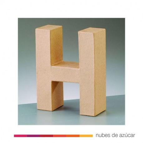 Letra H cartón craft 17.5x5.5 cm