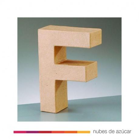 Letra F cartón craft 17.5x5.5 cm