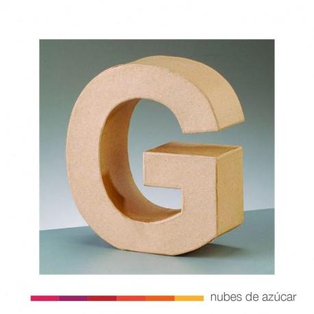 Letra G cartón craft 17.5x5.5 cm