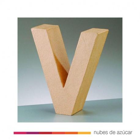 Letra V cartón craft 17.5x5.5