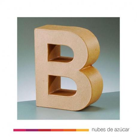Letra B cartón craft 17.5x5.5 cm