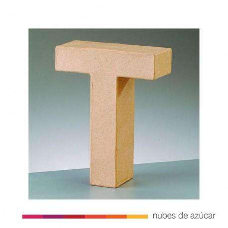 Letra T cartón craft 17.5x5.5