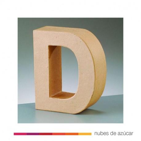 Letra D cartón craft