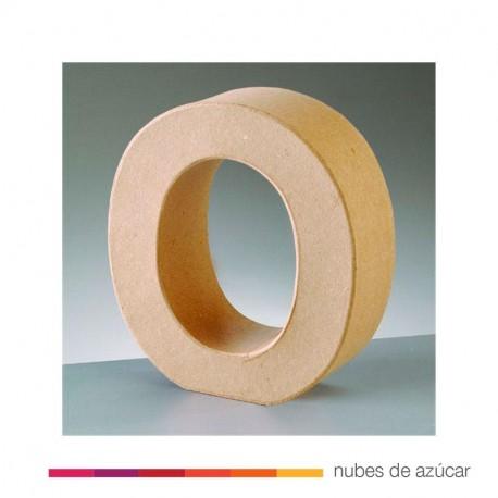 Letra O cartón craft 17.5x5.5