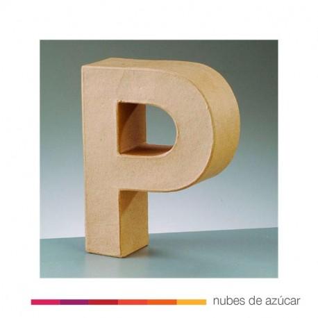 Letra P cartón craft 17.5x5.5