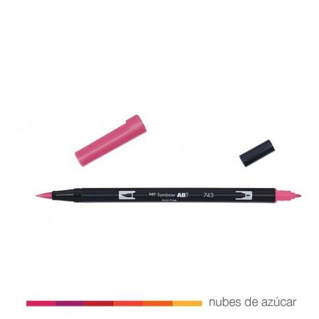 Rotulador doble punta rosa 743