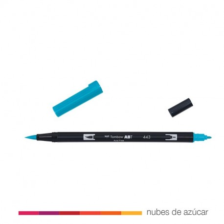 Rotulador doble punta Tombow azul 443