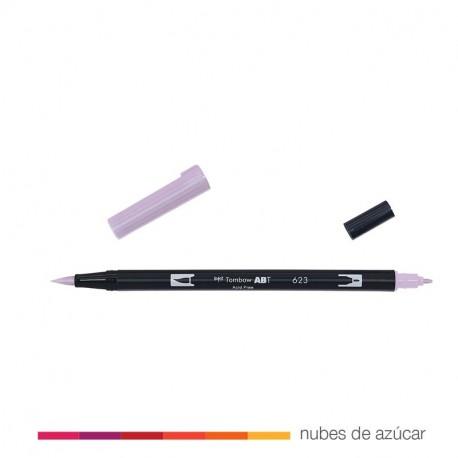 Rotulador doble punta tombow lila 623
