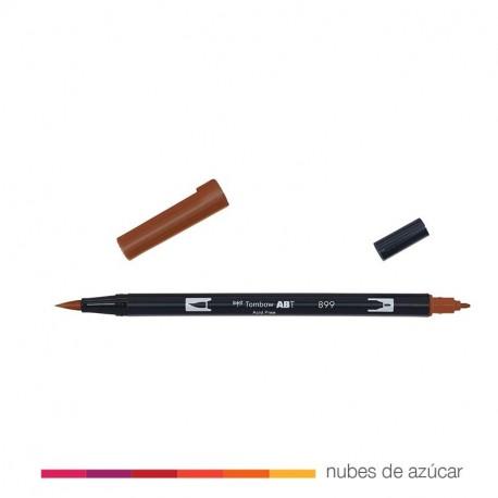 Rotulador doble punta Tombow marrón 899