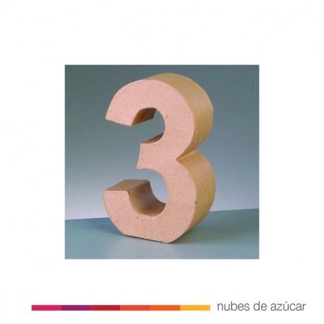 Número 3 Cartón Craft 17,5x5,5